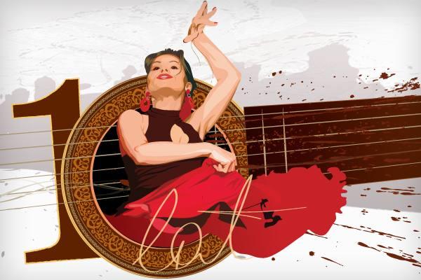 Festiwal Viva Flamenco 2011 projekt graficzny