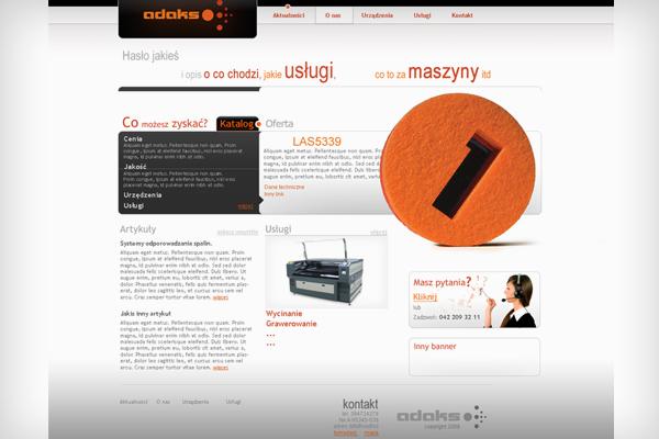 Adaks projekt strony, wizytówek i logotypu