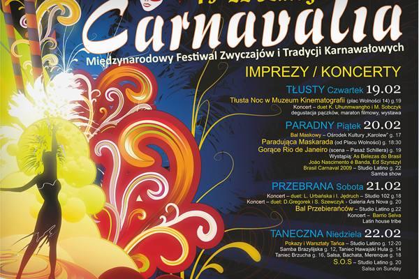 Festiwal Carnavalia plakat
