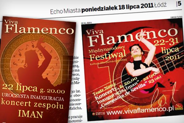 Festiwal Viva Flamenco 2011 reklamy