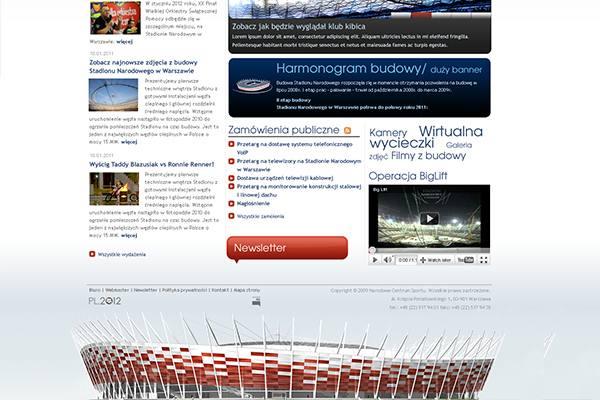 Stadion Narodowy projekt strony www