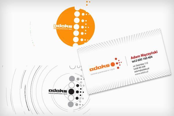 Adaks projekt wizytówek i logotypu
