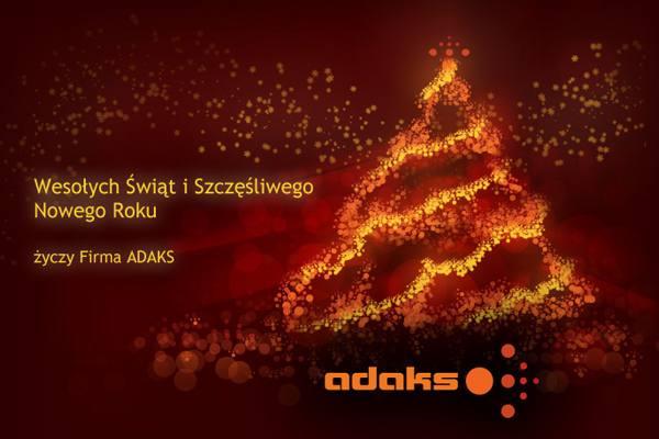 Adaks - kartka świąteczna - projekt